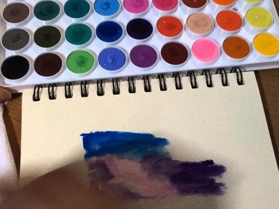 How to make watercolor galaxy