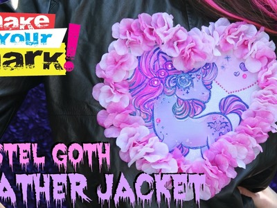 How to: Pastel Goth Leather Jacket