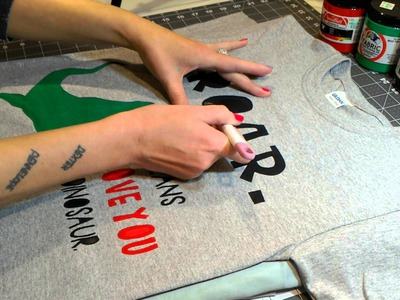 How to Use Freezer Paper Stencil and Screenprinting Paint for Custom Shirts