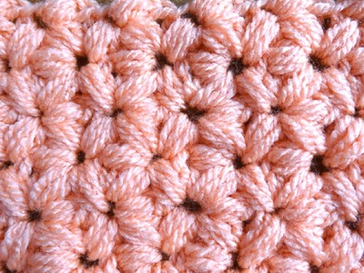 Jasmine Stitch - Left Handed Crochet Tutorial