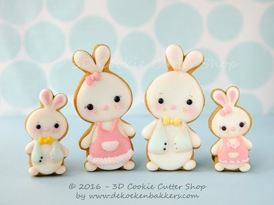 Learn how to decorate Easter Bunny cookies