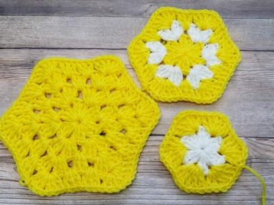 Learn to Crochet Granny Style Hexagon