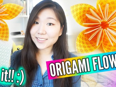 ORIGAMI FLOWER ║ Super Easy & Pretty DIY