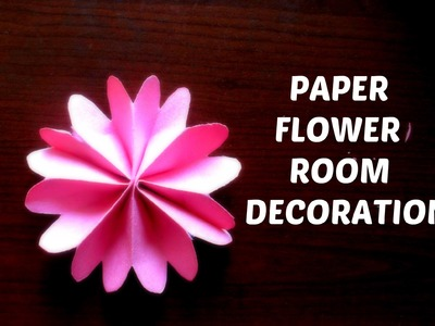 PAPER FLOWERS || DIY room decoration flowers