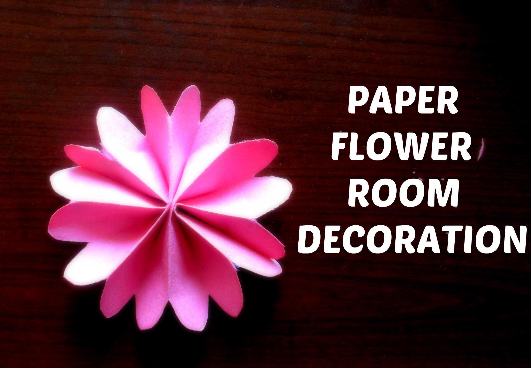 PAPER FLOWERS || DIY room decoration flowers