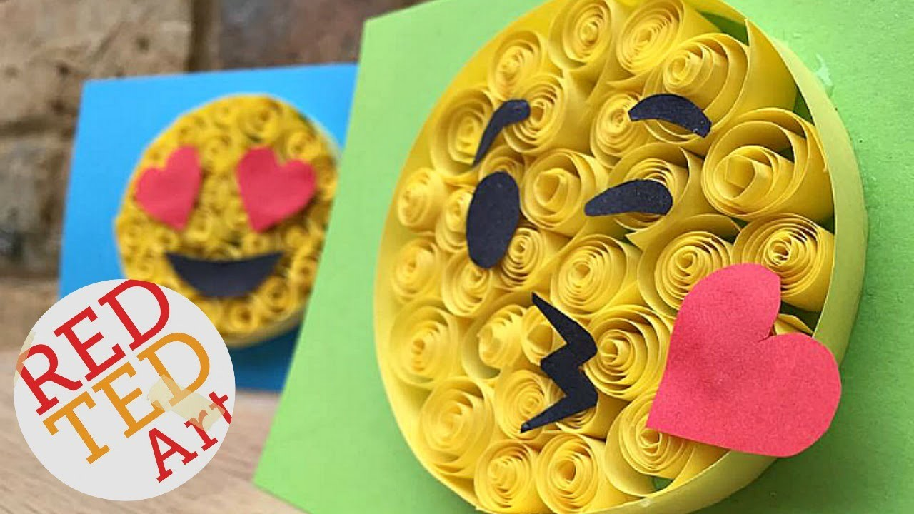 Paper quilling for beginners emoji crafts easy diy for Cool paper projects