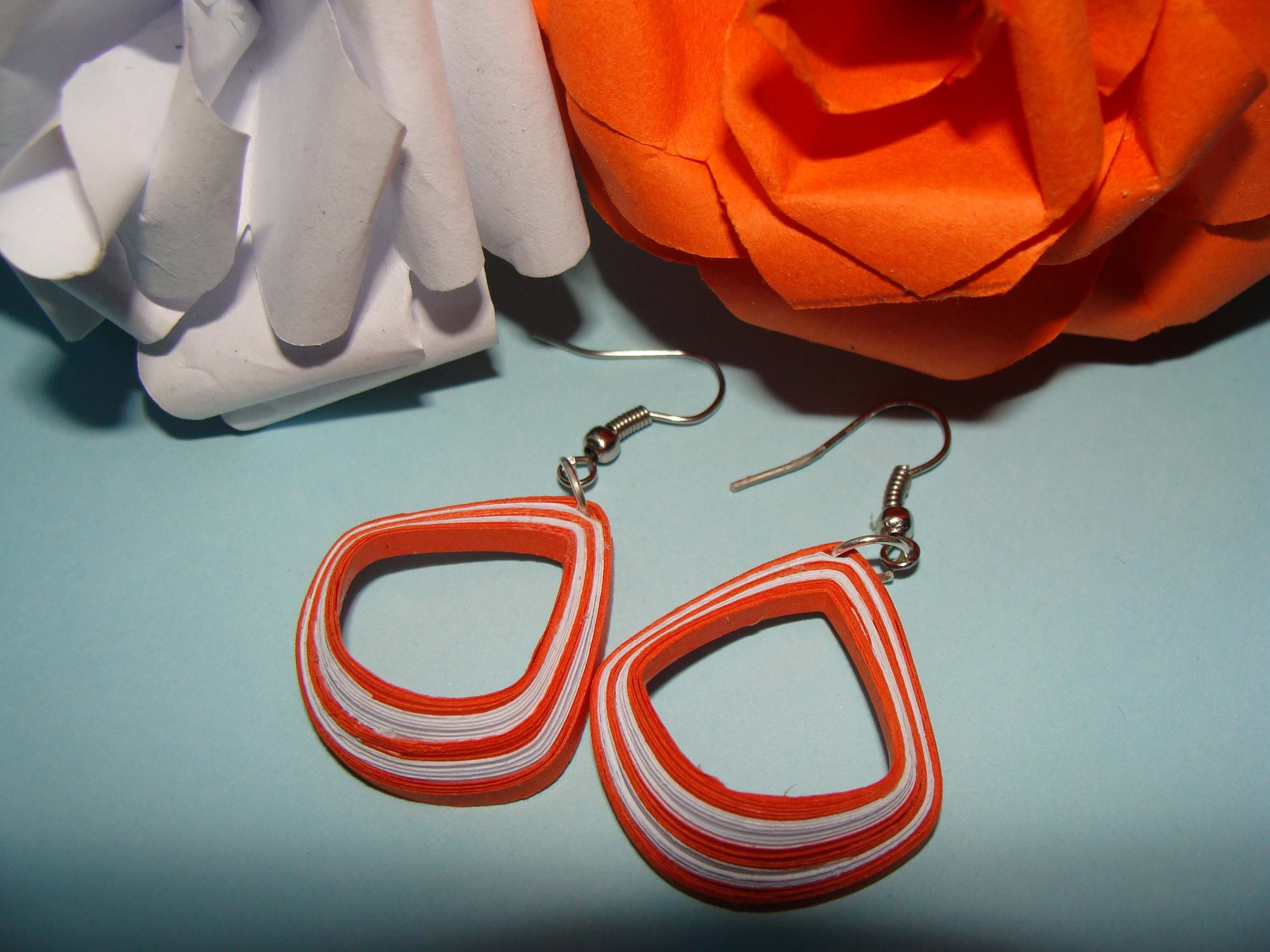 Quilling earrings: how to make new design  quilling earrings