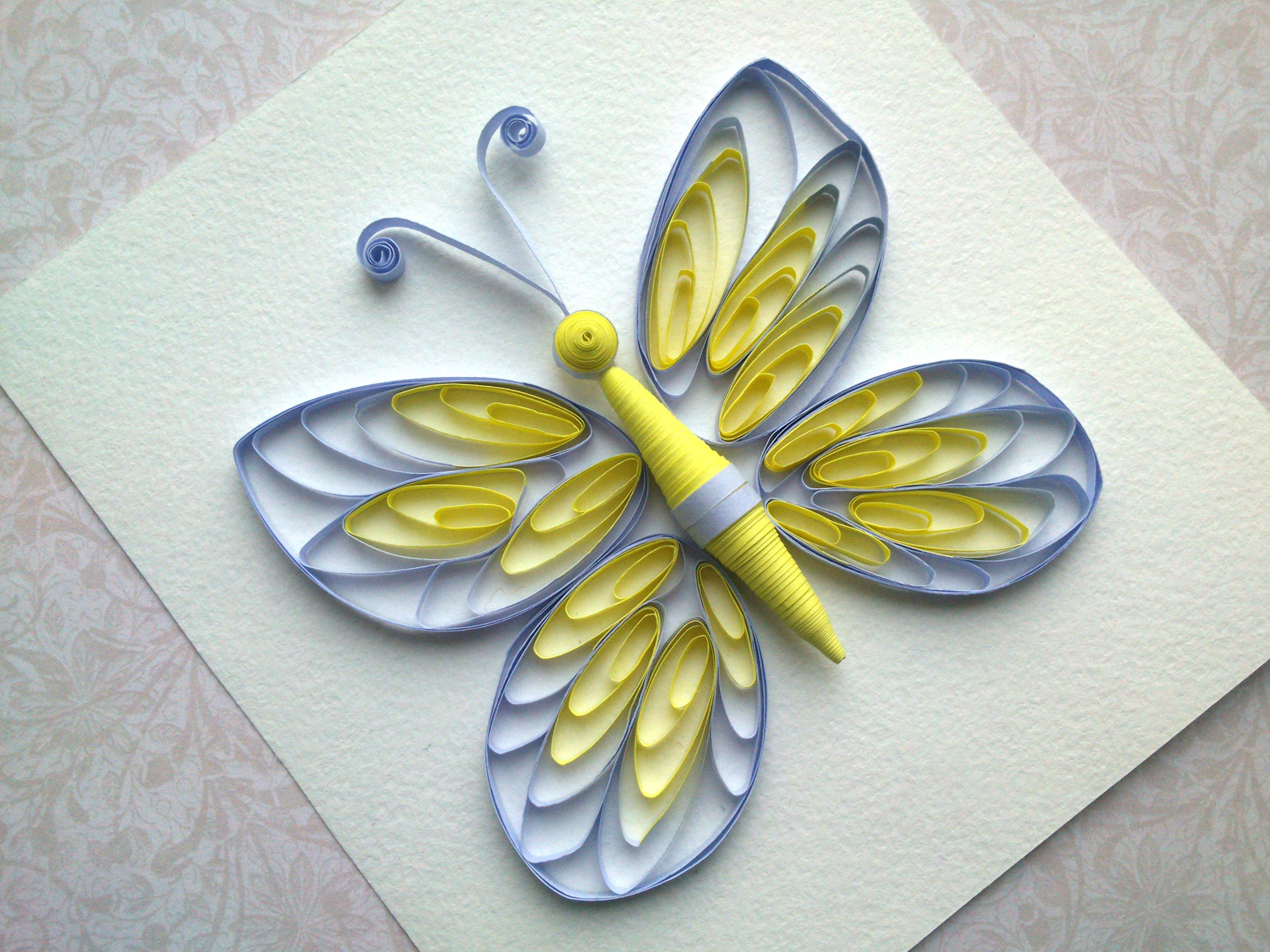 Quilling instructions how to make quilling butterfly with for Quilling designs how to make