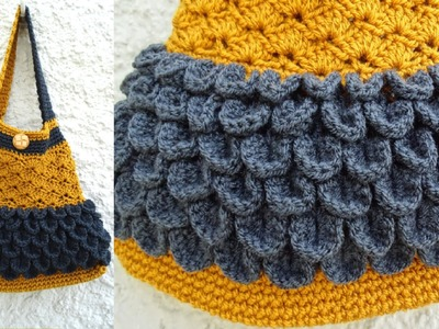Scale and Shell Bag - Crochet Tutorial