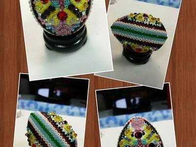(Tutorial) Beaded Easter Egg Ukrainian Style DIY (Video 157) PART 1