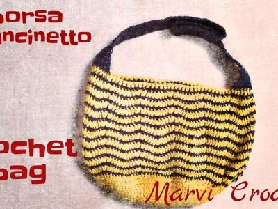 Tutorial borsa all'uncinetto, crochet bag