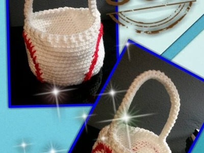 Tutorial How to Crochet a Baseball Easter Basket
