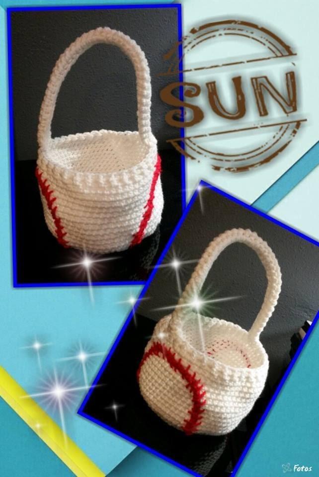 Tutorial How to Crochet a Baseball Easter Basket