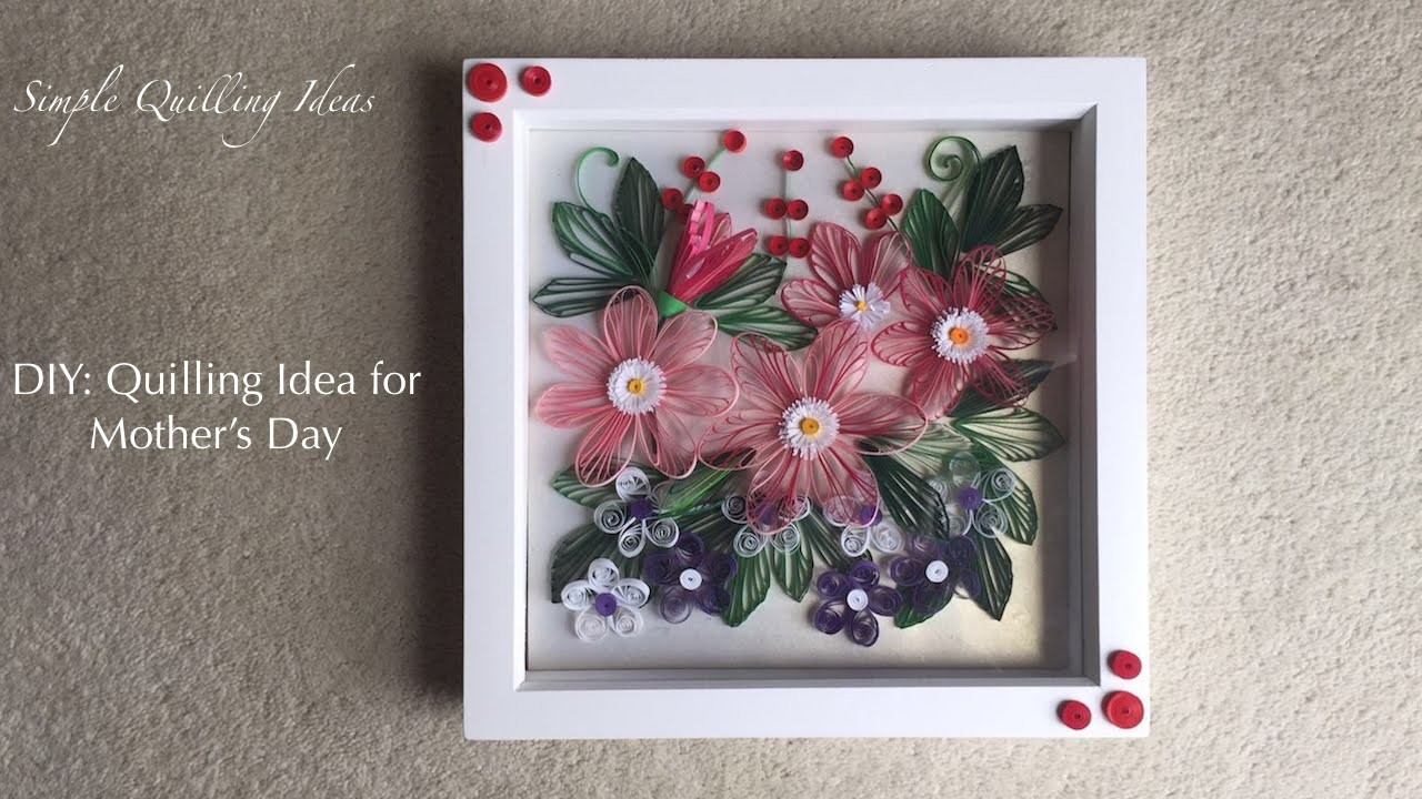 Art and Craft: DIY Mother's Day special Quilled Flowers Bouquet