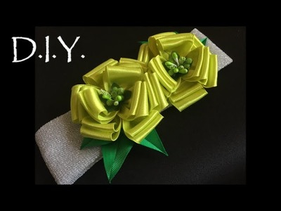 D.I.Y. Satin Flower Baby Headband