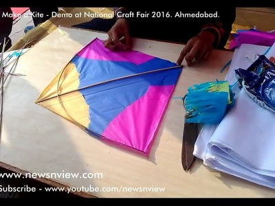 Demo of Kite Making - Learn How to Make a Kite for Utarayan in Ahmedabad