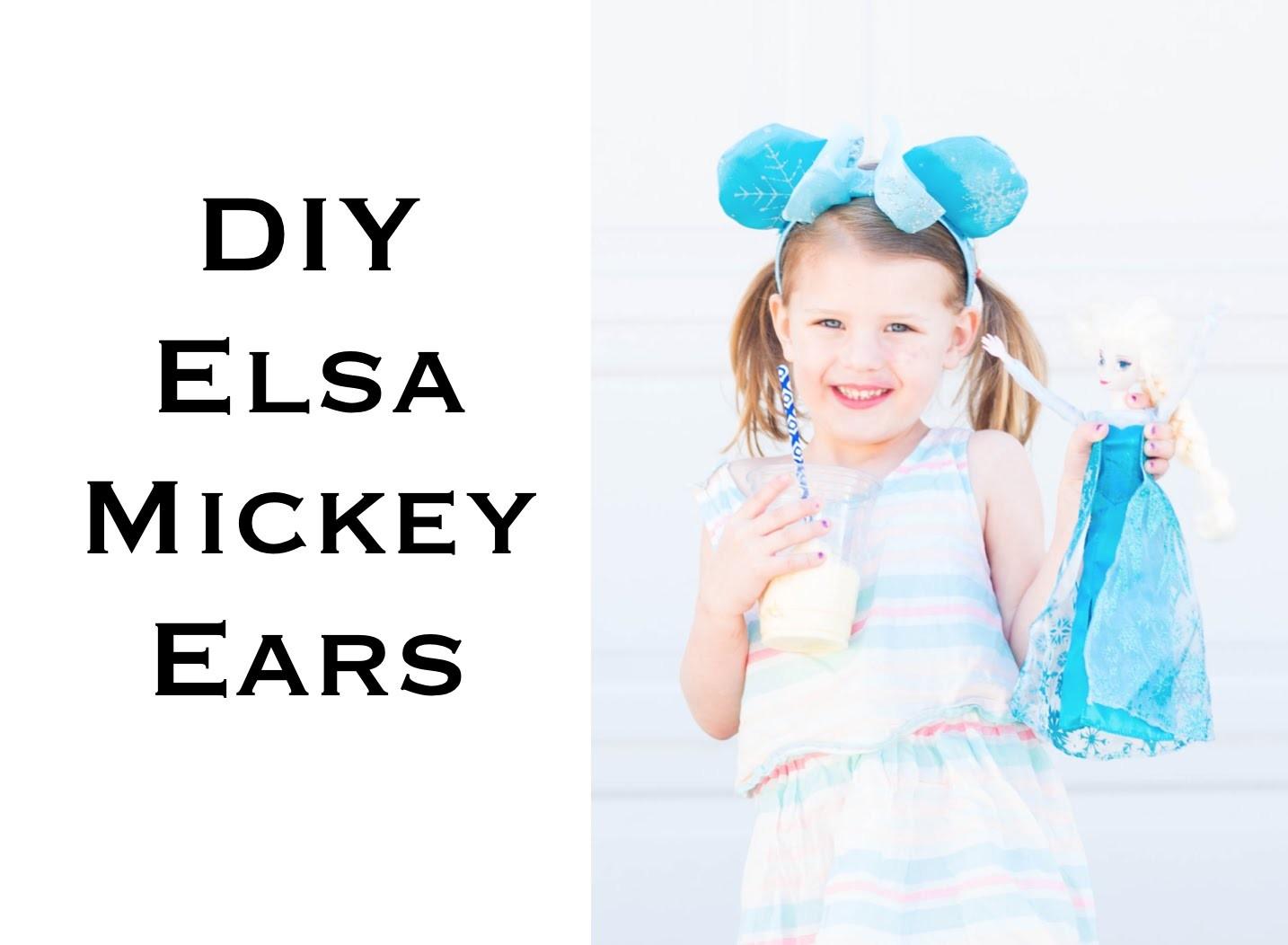 DIY Elsa Mickey Ears - Fast and Easy!