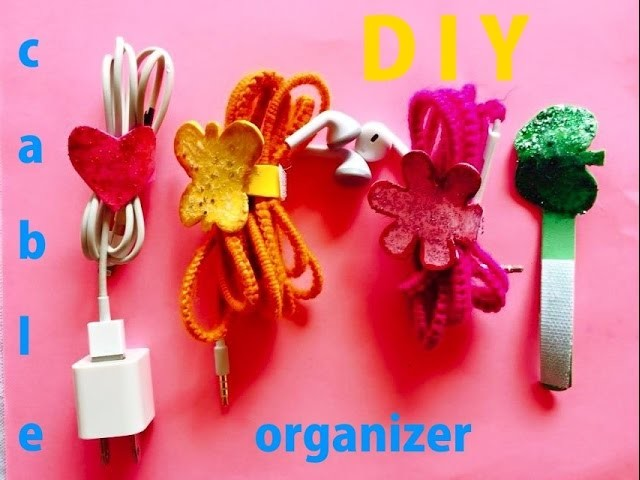DIY How to make cable and cord organizer Tutorial