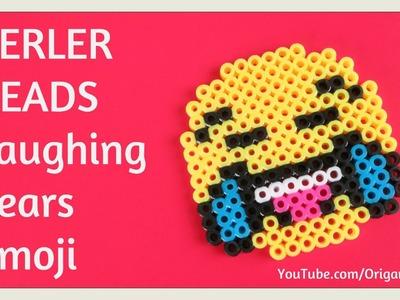 DIY Perler Beads Emoji Tutorial EASY - Laughing Tears - Laughing Until Crying Emoji Kids Crafts