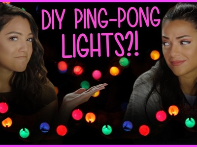 DIY Ping Pong String Lights?! | Niki and Gabi DIY or DI-Don't