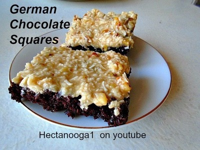 GERMAN CHOCOLATE SQUARES recipe, vegan