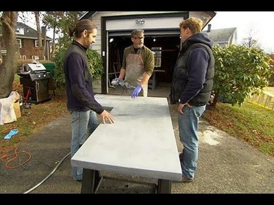 How to Build Custom Concrete Countertops