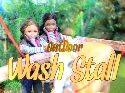 How to Make a OutDoor Wash Stall - EASY DOLL CRAFTS