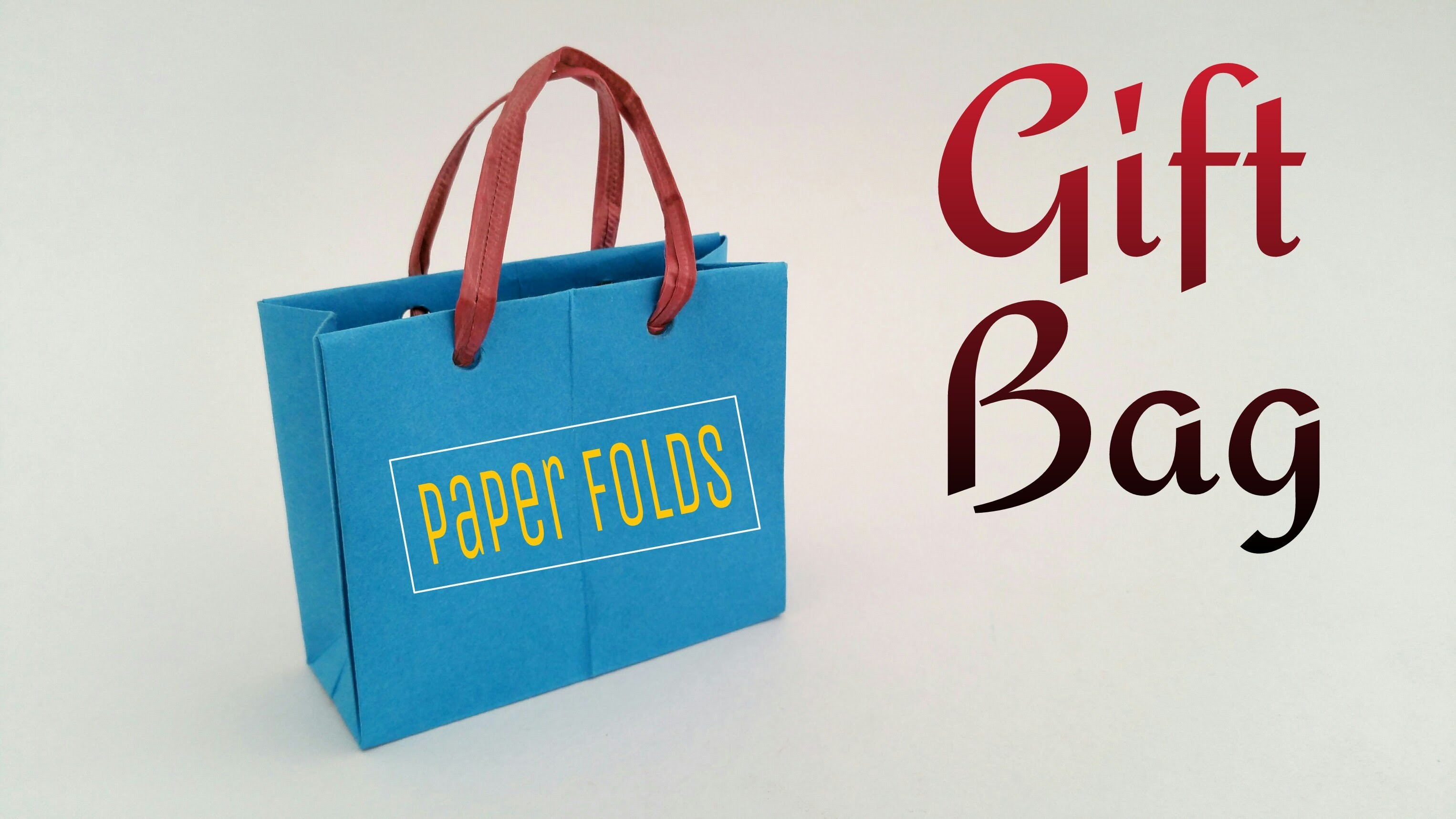 "How to make a paper ""Gift. Shopping Bag"" - Useful Origami. Craft tutorial"