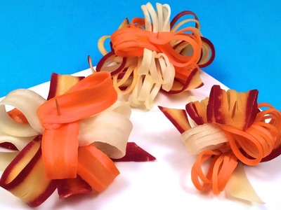 How to Make Multicolored Gift Bows with Carrots (HD)