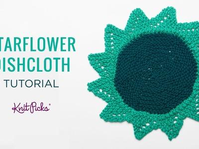 Knit Picks - Knit a Starflower Dishcloth