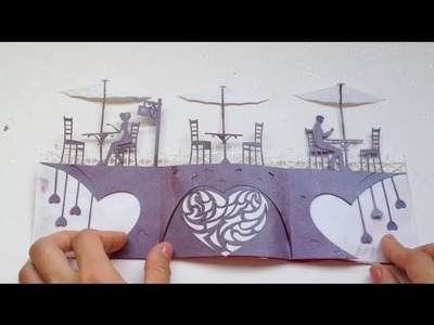Love Story Card, Valentine Kirigami Tutorial | Free Pattern