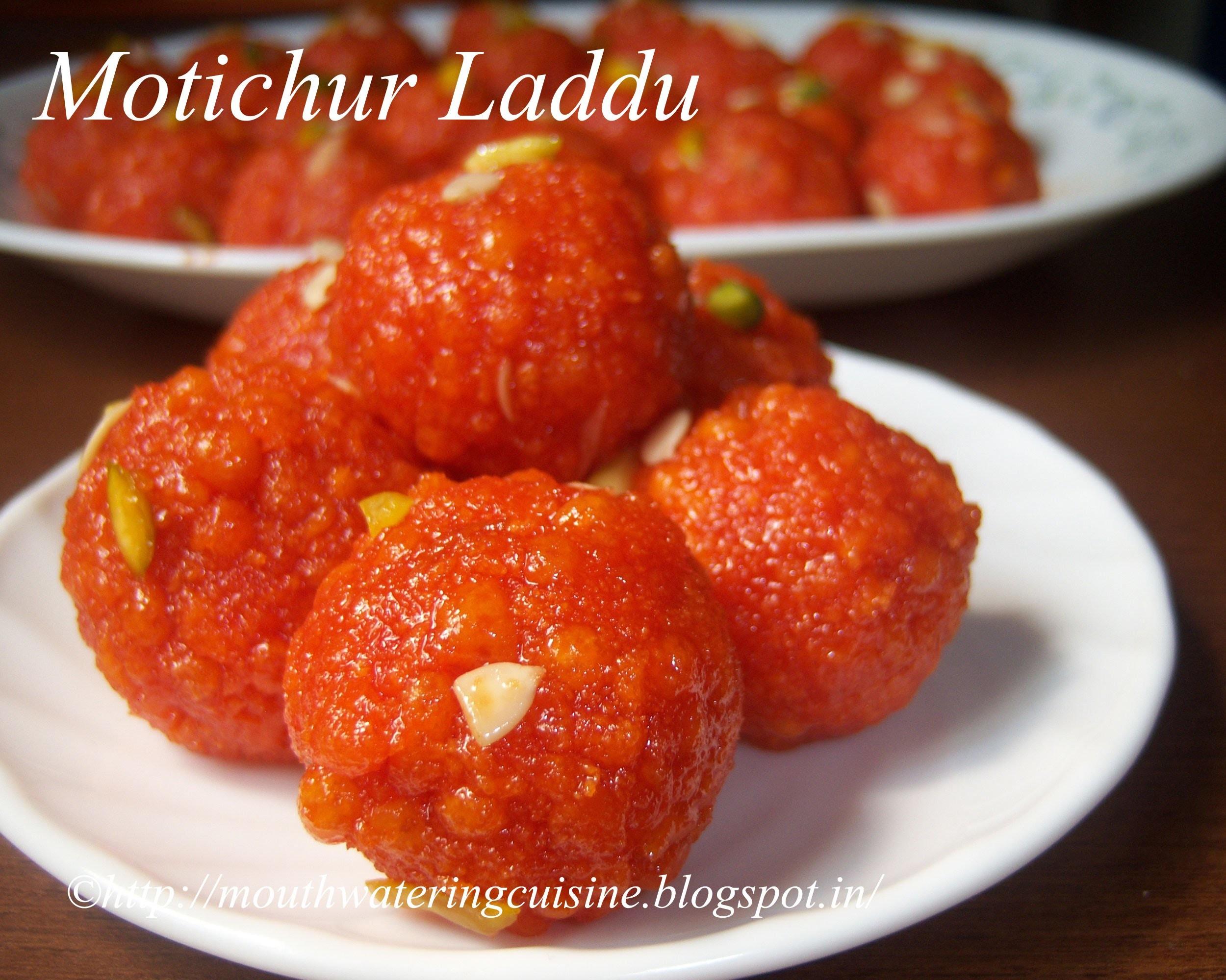 Motichur Laddu Recipe -- How to make Motichur Laddu Recipe