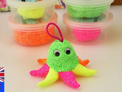 OCTOPUS FOAM CLAY ⇒ Tutorial, How to make a octopus foam clay key chain?