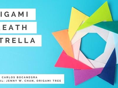 Origami Wreath V1 (Origami Star Wreath) - Paper Crafts - Paper Wreath Estrella