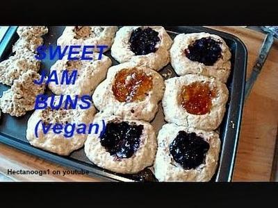 Sweet Jam Buns Recipe, vegan cooking, minimalist baking, one bowl