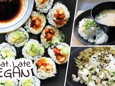What I Ate In A Day VEGAN #28. Japanese-inspired Vegan Recipes