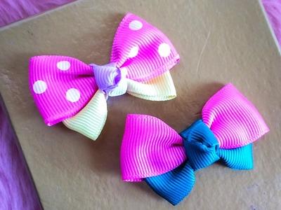 DIY: How to make ribbon bow hair clip