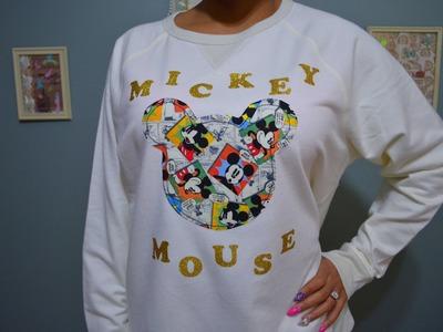 DIY Mickey Mouse SweatShirt Tutorial