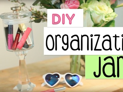 DIY Organization Jar | Recycled Candle DIY