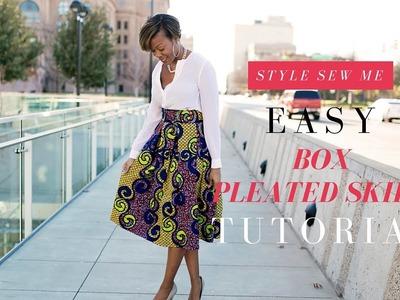 Easy Box Pleated Skirt Tutorial   No Math Needed