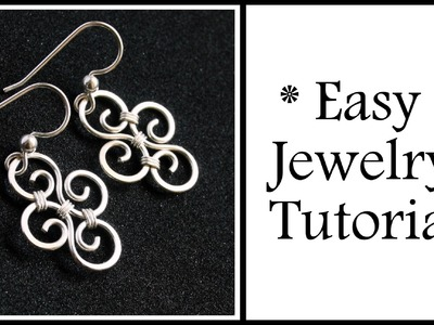 Easy Jewelry Tutorial Simple Swirl Earrings : Wire Wrapping for Beginners