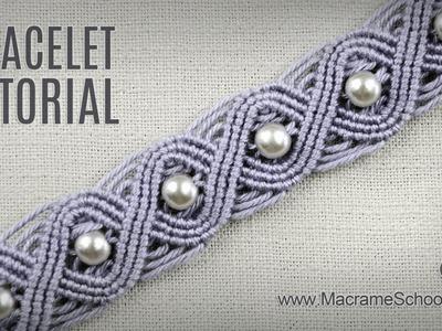 Eternal Wave Bracelet Tutorial in Vintage Style | Macrame School