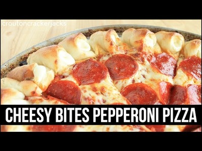 Homemade Cheesy Bites Pepperoni Pizza Recipe!