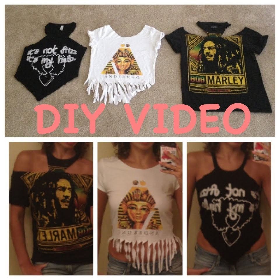 How To Cut Your T-Shirts CUTE!