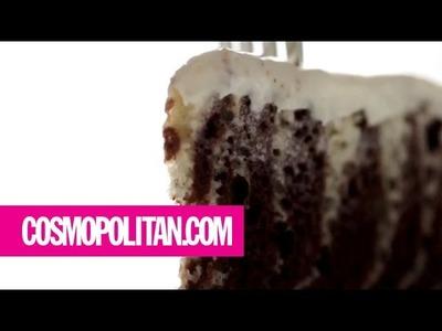 How to Make Zebra Cake | Cosmopolitan