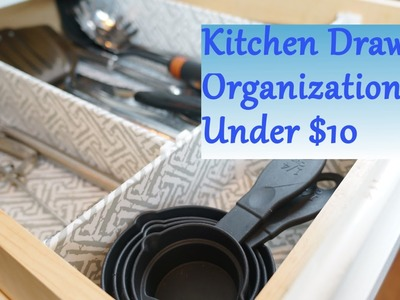 Kitchen Drawer Organization Ideas: For Under $10