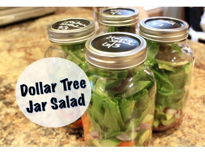 ORGANIZED LUNCHES | Dollar Tree Jar Salad