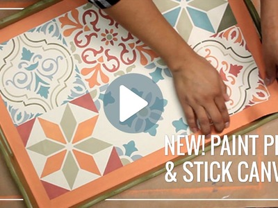 Paint Peel & Stick Canvas™ for Stenciling Easy DIY Decor