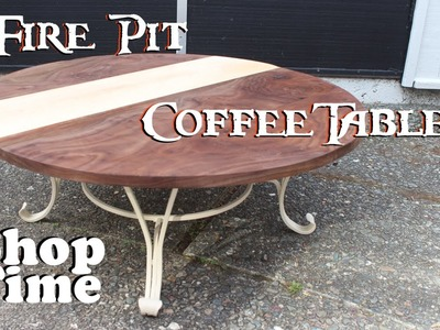 Reclaimed Fire Pit Coffee Table