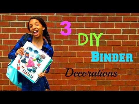 3 DIY Binder Decorations! | Cyndirianne22